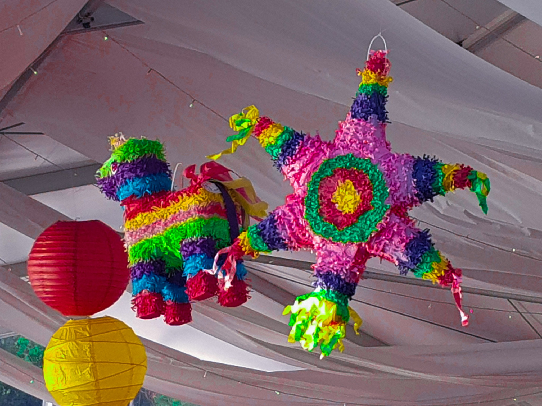 Colourful Mexican pinata