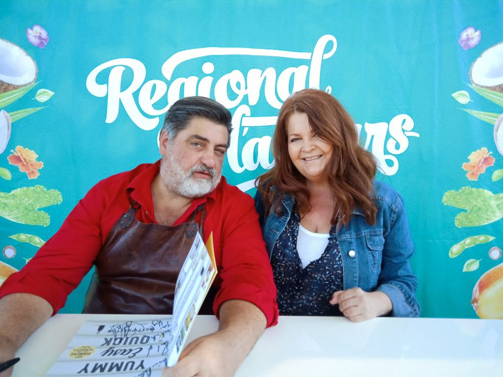 Regional Food & Wine Festival Brisbane-Me and Matt Preston at book signing