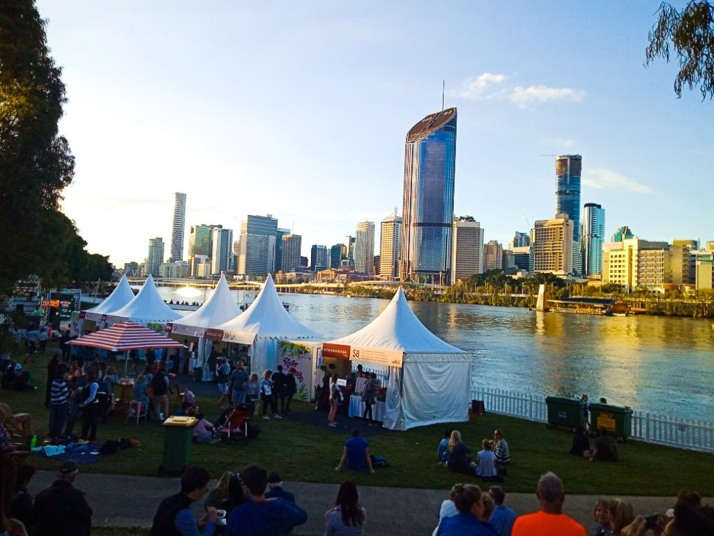 Regional Flavours Food & Wine Festival Brisbane - Food Stalls over Brisbane River