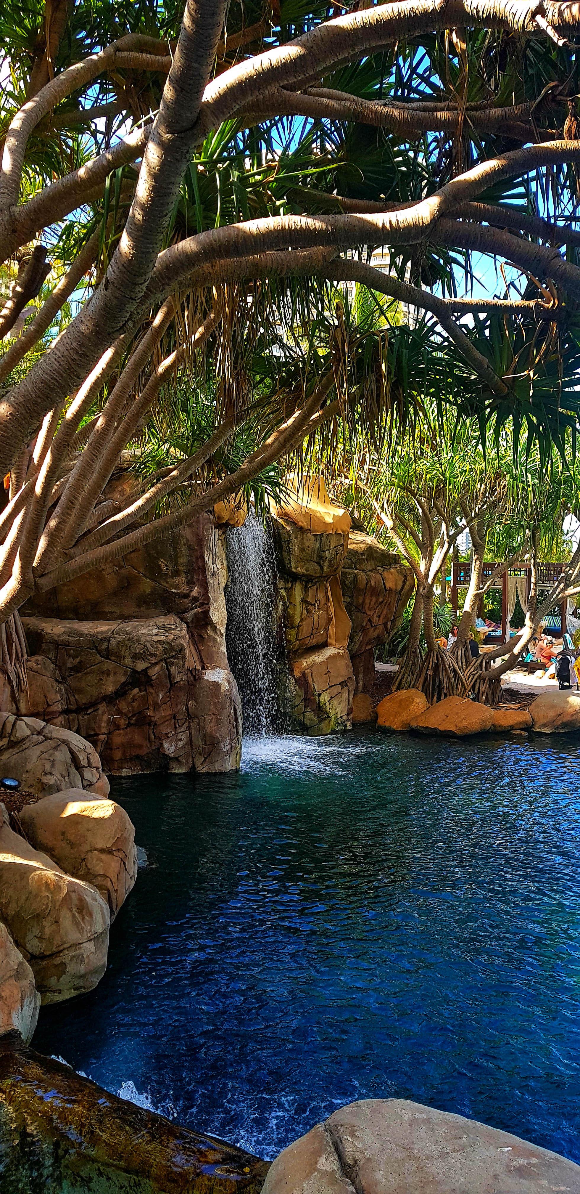 waterfalls in the lagoon
