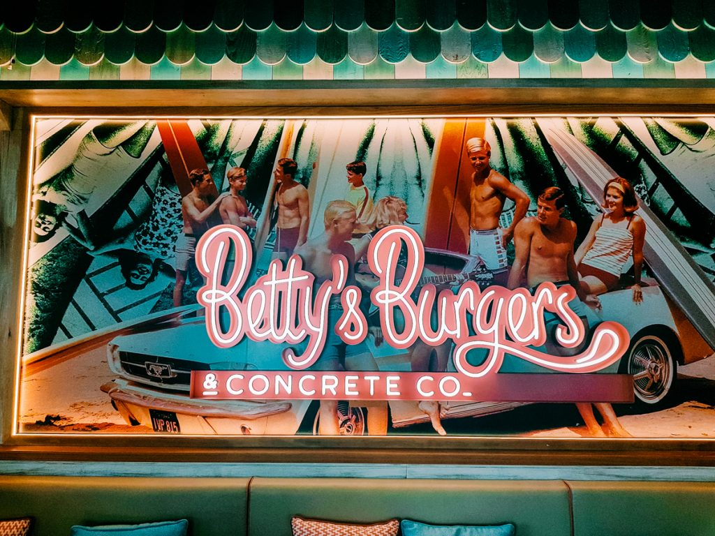 Betty's Burgers sign