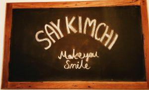 kimchi smile sign