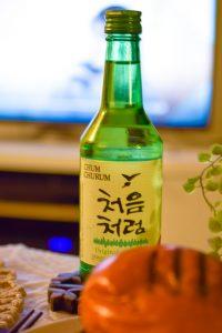 bottle of soju
